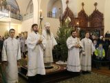 В праздник Собора Пресвятой Богородицы Преосвященный Савва совершил Божественную литургию в Свято-Троицком кафедральном соборе г. Алексеевка