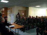 Руководитель отдела по взаимодействию с Вооруженными Силами и правоохранительными органами провел беседу с молодым пополнением личного состава