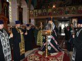 Преосвященный Савва совершил чтение Великого покаянного канона Андрея Критского в Никольском храме г. Валуйки