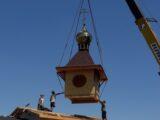Освящение купола и креста для строящегося храма в селе Бирюч