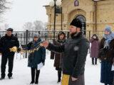 Настоятель храма Рождества Пресвятой Богородицы села Колтуновка принял участие в митинге посвященном 78-й годовщине освобождения города Алексеевки и Алексеевского городского округа от немецко-фашистских захватчиков