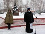 Благочинный Красненского округа принял участие в митинге посвященном 78-й годовщине освобождения Красненского района от немецко-фашистских захватчиков