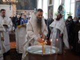 В навечерие святого Богоявления Преосвященнейший епископ Савва совершил Божественную Литургию в храме Успения Пресвятой Богородицы п. Волоконовка