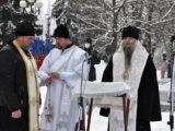 Преосвященнейший епископ Савва принял участие в митинге, посвященном 78-й годовщине освобождения города Валуйки от немецко-фашистских захватчиков