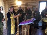 В 3-й Висленской дивизии состоялось чтение Великого покаянного канона преподобного Андрея Критского.