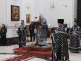 Преосвященнейший епископ Валуйский и Алексеевский Савва, совершил Пассию в Свято-Николаевском кафедральном соборе г. Валуйки