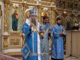 В канун праздника Благовещения Пресвятой Богородицы Преосвященнейший епископ Савва совершил всенощное бдение в Свято-Николаевском кафедральном соборе г. Валуйки