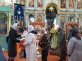 Распространение информационных листовок о празднике Входа Господня в Иерусалим на приходах епархии
