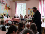 Благочинный приходов Алексеевского округа провел урок посвященный Дню славянской письменности в МБОУ ООШ № 6 города Алексеевка