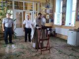 Молебен с сотрудниками службы безопасности Вейделевского района