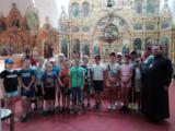 Встреча ребят из лагеря «Ромашка» с настоятелем храма Рождества Христова с. Лесное Уколово