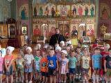 Воспитанники трех групп детского сада «Капелька» посетили с экскурсией Свято-Ильинский храм с. Красное