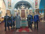 Терские казаки посетили богослужение в храме святых апостолов Петра и Павла
