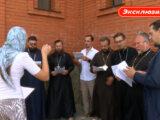 """Священнослужители Валуйской епархии приняли участие в записи сюжета для телеканала """"Мир Белогорья"""""""