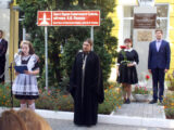 Священник принял участие в митинге, приуроченном дню трагической гибели Героя России В.В. Бурцева
