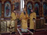 Епископ Савва совершил Божественную Литургию в храме святого благоверного князя Александра Невского города Алексеевка