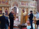 Казаки приняли участие в богослужении в храме святого апостола Андрея Первозванного села Айдар