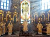 Епископ Валуйский и Алексеевский Савва принял участие в торжествах по случаю 25-летия со дня освящения Спасо-Преображенского кафедрального собора г. Губкин