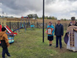 В селе Солдатка Красногвардейского района состоялось открытие и освящение детской площадки